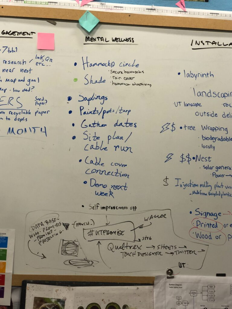 A close up of text on a whiteboard  Description automatically generated