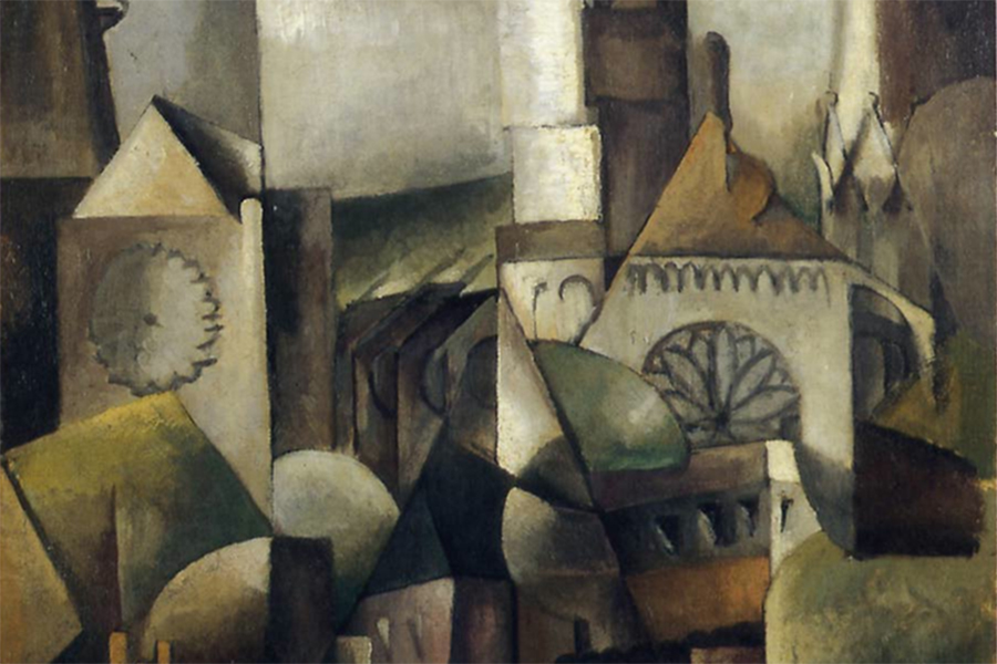 cubist painting of Chartres cathedral