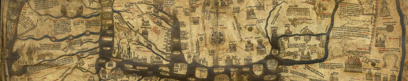 Hereford Mappa Mundi. Public domain image from Wikimedia Commons.