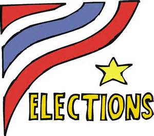 Elections with flag