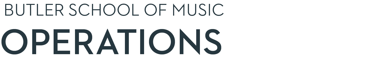 Butler School of Music Operations