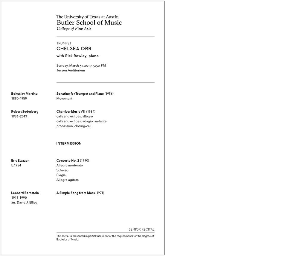 Sample of Student Program
