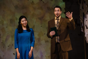 Onegin sings to an impressed Tatyana