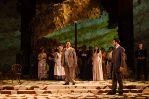 Lenski challenges Onegin to a duel