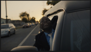 """Screen shot from """"Never Catch Me,"""" (Flying Lotus, directed by Hiro Murai, 2015)"""