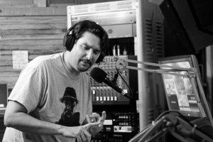 hip hop promoter Matt Sonzala in the studio