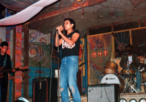 Photograph of underground rock concert in Lima in the 1980s