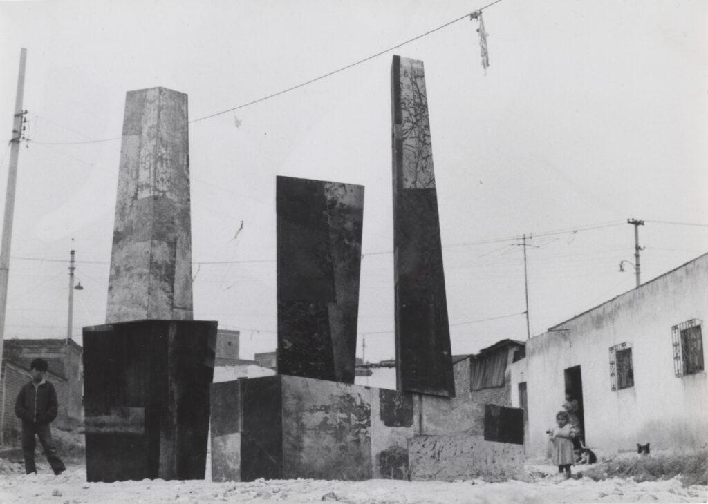 sculptural ensemble in Mexico City street