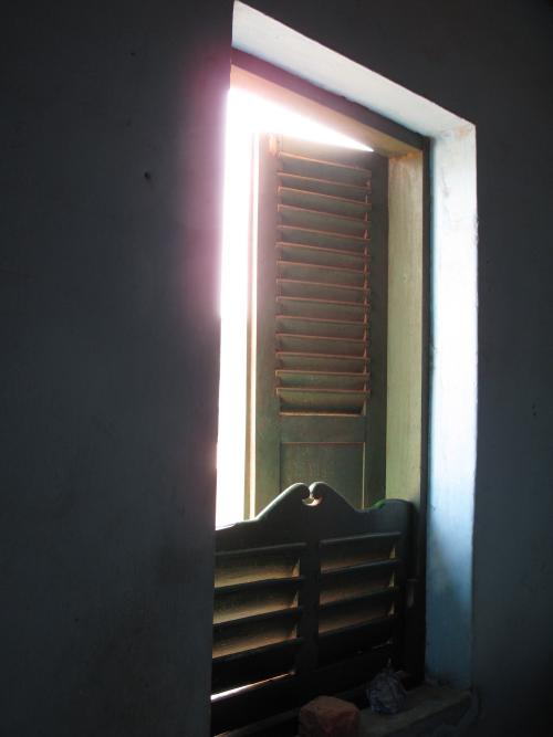 image of a doorway lit by the sun
