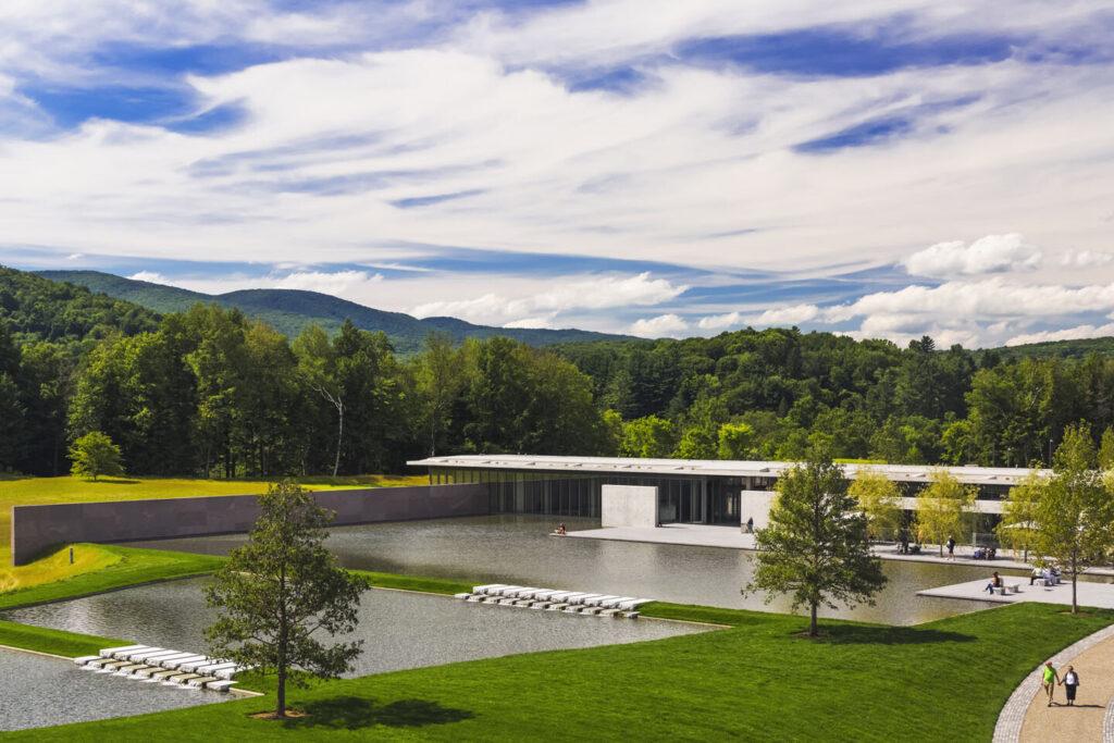 exterior view of Clark Art Institute