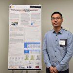 Yantao Huang, GRA for Dr. Kara Kockelman with his poster on autonomous vehicles