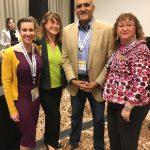 Lisa Loftus-Otway with her panel attendees, Melanie Bartlett Norrell of AECOM and Susanna Gallun, Transportation Consultant, along with fellow panelist Shailen Bhatt of ITS America.
