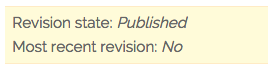 notice for content with an unpublished revision