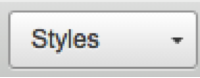 Styles drop-down button