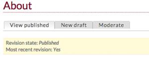 screen shot displaying the moderate tab