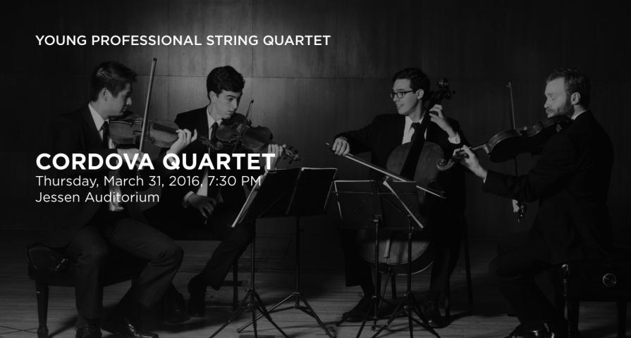Announcement of the Cordova Quartet demonstrating JPG quality