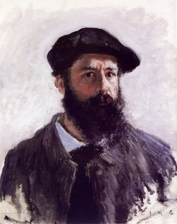 Painted portrait of Monet