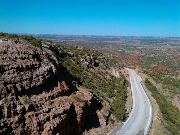 Road into Palo Duro