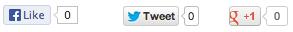 Social Widgets example