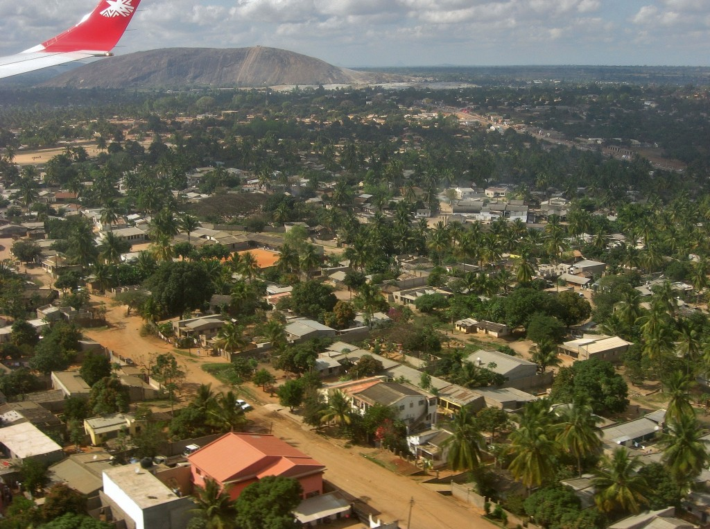 View of Nampula, Mozambique, from the air