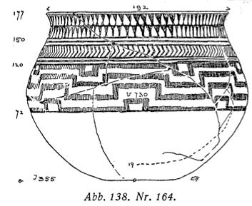 Figure 1. Geometric composition on a vessel from Samarra. Ernst Herzfeld, Die Vorgeschichtlichen Toepfereien von Samarra, Berlin 1930, p. 65, fig. 138, No 164.