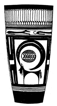"Figure 4. Animal composition on a Susa I tumbler.After Phillis Ackerman, ""Symbol and Myth in Prehistoric Ceramic Ornament,"" in Arthur Upham Pope, A Survey of Persian Art, XIV, Oxford 1967. P. 2922, Fig. 1000."