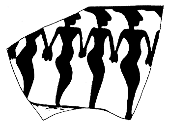 Figure 7. Anthropomorphic figures from Shehme Ali, Mesopotamia, in Max Freiherr von Oppenheim, Tell Halaf, Vol. I, Walter de Gruyter, Berlin 1943, Pl. XV:5.