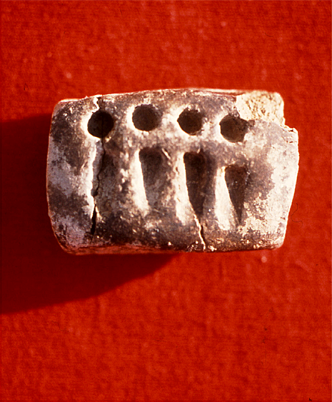 rectangular token with impressions