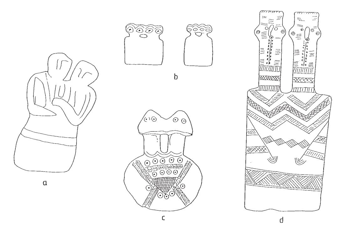 line drawings of artifacts