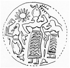 Drawing of the figure depicted in glyptics
