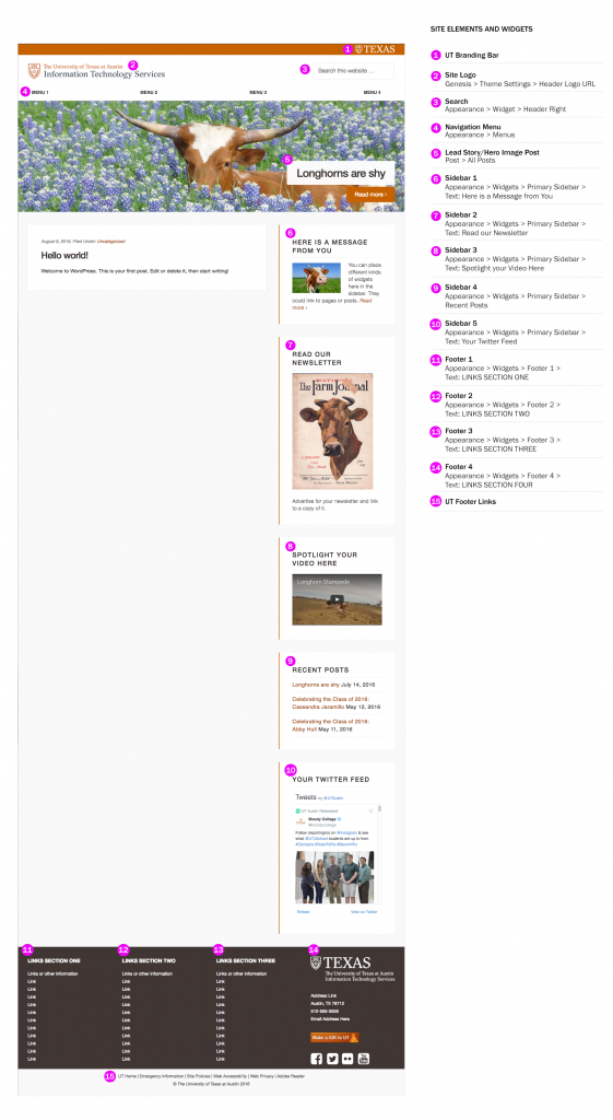 UT WordPress Theme with callouts