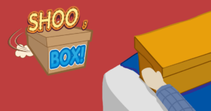 title page for Shoo, Box! video game