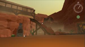 "still image of desert scene from original video game ""Long Way Home"""