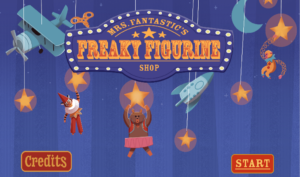 """Title image for original video game called """"Mr. Fantastic's Freaky Figurine Shop"""""""