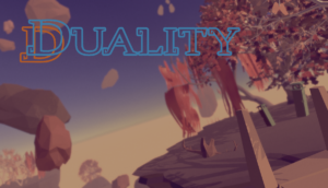 """title image for original video game """"Duality"""""""