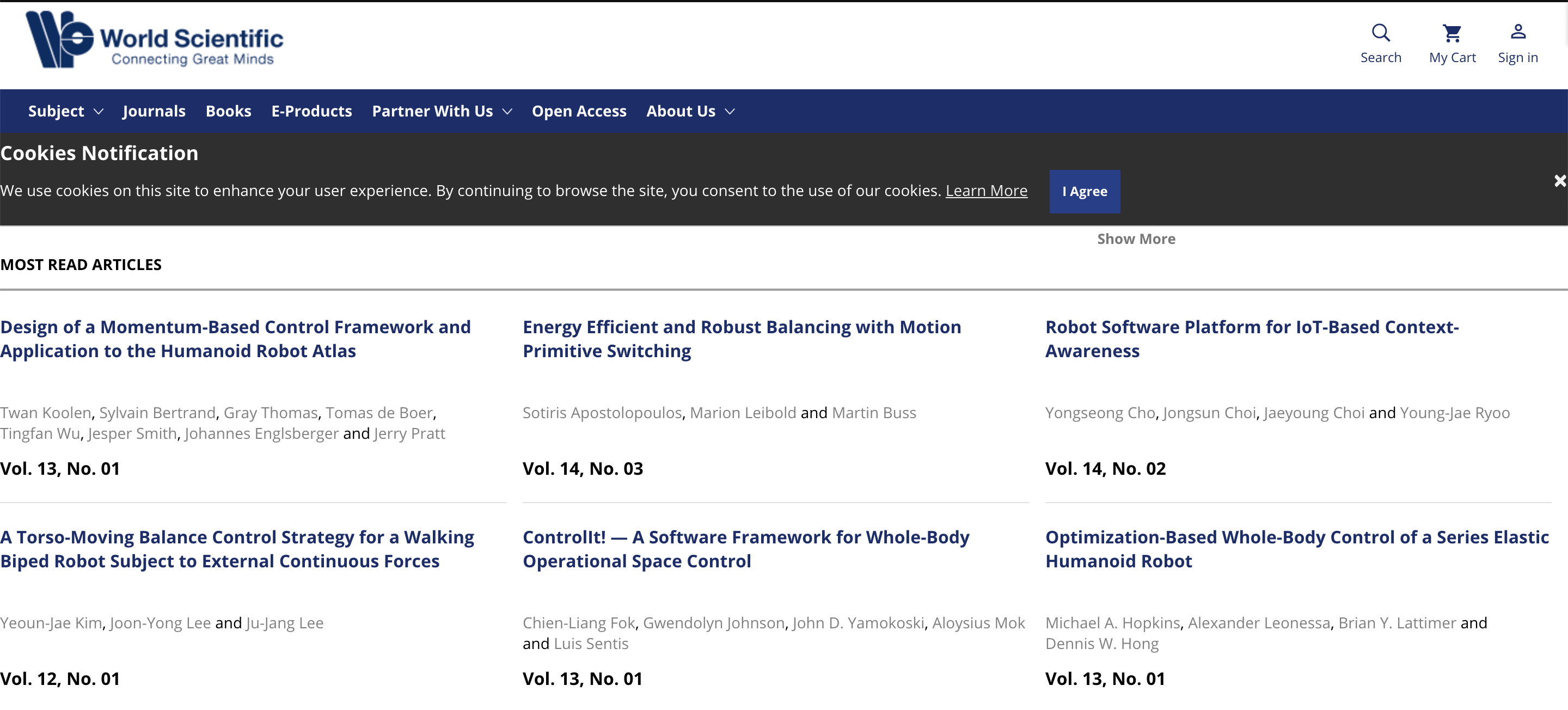 Top Cited and Read Papers from the International Journal of