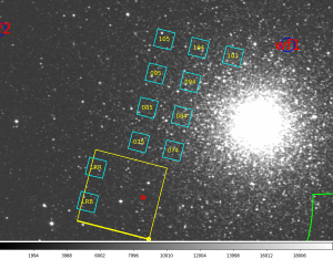 Image made by our setup software to help the astronomer understand where we are pointed.