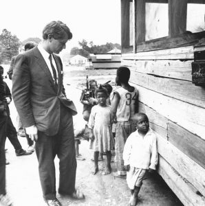 Robert Kennedy F. Kennedy touring the Mississippi Delta