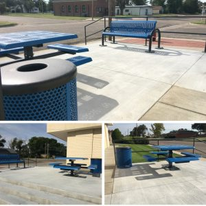 Stanton County Library's generous outdoor patio was constructed due to the fact that WiFi users needed after-hours space.