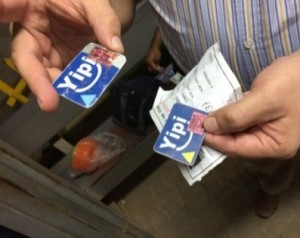 Yipi service cards. Photo Credit: World Bank. See the original photo here.