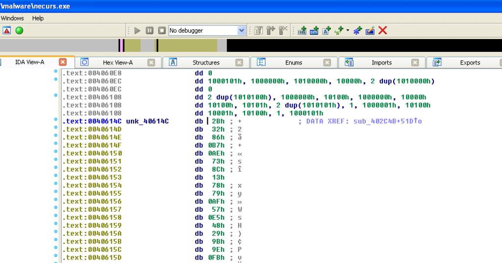 IDA Pro disassembly view after reformatting