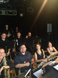 UTJO band members smile for the camera at North Sea jazz festival