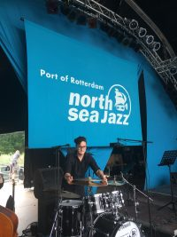 drummer Greg Clifford at North Sea jazz festival