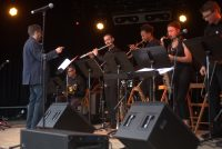 John Fremgen conducts UT jazz orchestra at montreux jazz festival