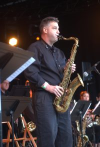 saxophonist Dave Sayers at montreux