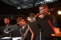 trombonist David Kapral performing at Montreaux Jazz Festival