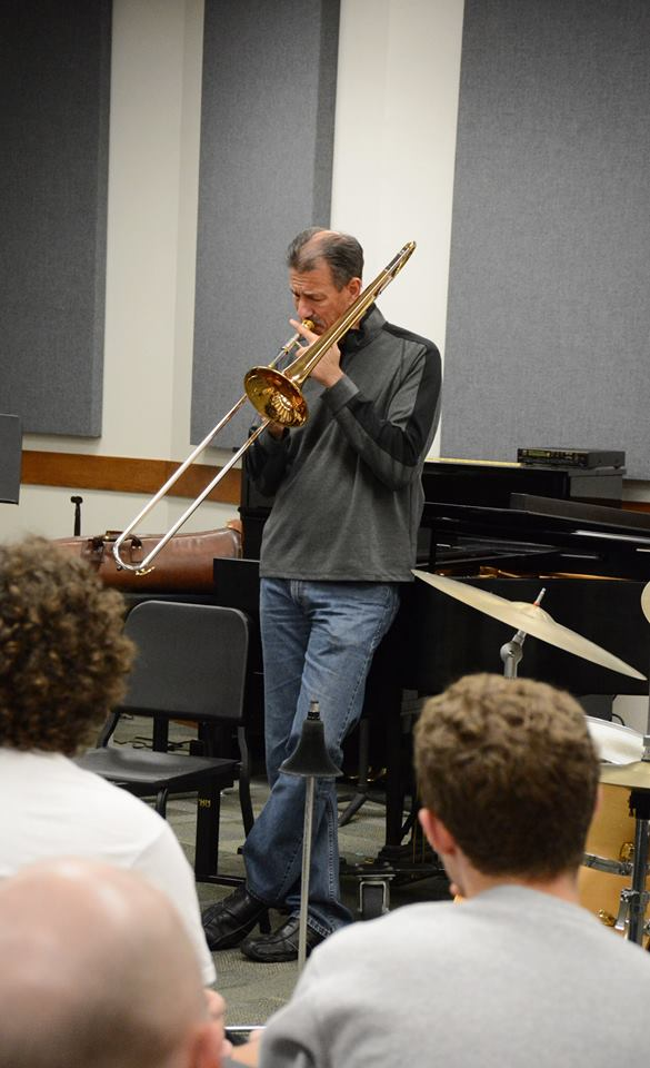 John fedchok plays trombone at his masterclass