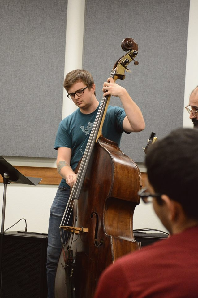 bassist Taylor Turner plays with Will Kennedy at masterclass