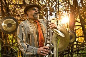 portrait of saxophonist Joe Lovano