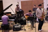 Rhythm section playing with Joe Lovano at masterclass